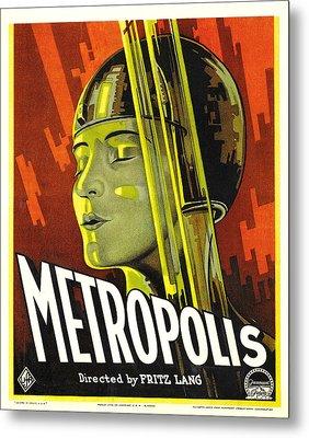 Metropolis, Brigitte Helm, 1927 Metal Print