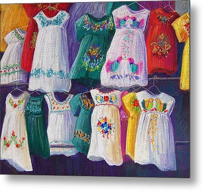 Mexican Dresses Metal Print by Candy Mayer