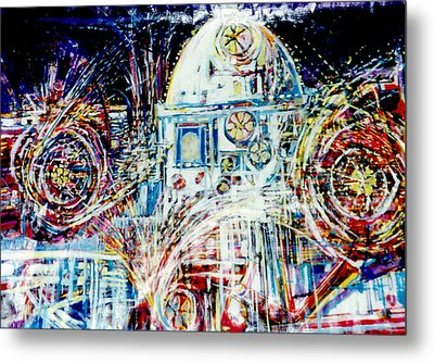 Mexican Fireworks Metal Print by Dale  Witherow