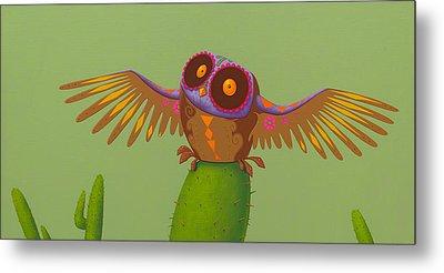 Mexican Owl Metal Print