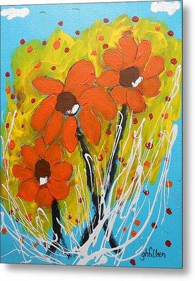 Mexican Sunflowers Flower Garden Metal Print