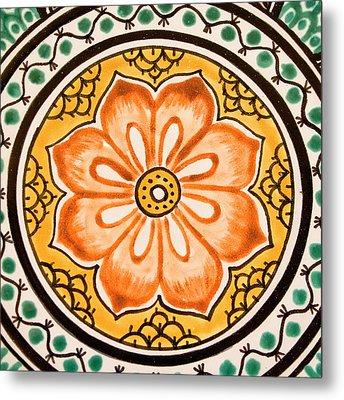 Mexican Tile Detail Metal Print by Carol Leigh