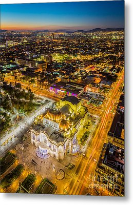 Mexico City Twilight Metal Print by Inge Johnsson