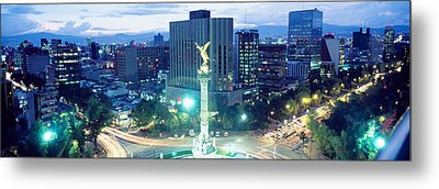Mexico, Mexico City, El Angel Monument Metal Print by Panoramic Images