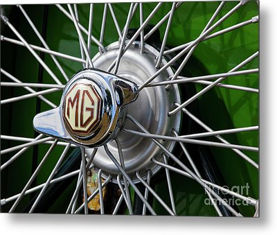Metal Print featuring the photograph Mg Hub by Chris Dutton