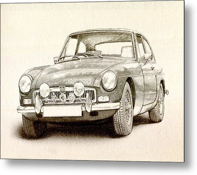 Mg Mgb Mkii Metal Print by Michael Tompsett