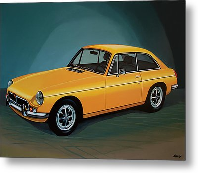 Mgb Gt 1966 Painting  Metal Print by Paul Meijering