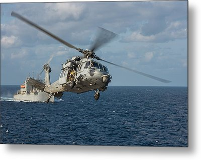 Mh-60s Sea Hawk Helicopter Metal Print