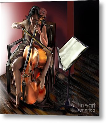 Mi Chica - Solace In The Unseen Metal Print by Reggie Duffie