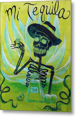 Mi Tequila Metal Print by Heather Calderon