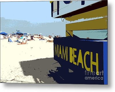 Miami Beach Work Number 1 Metal Print by David Lee Thompson