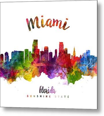 Miami Florida 23 Metal Print by Aged Pixel