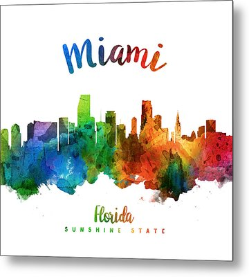 Miami Florida 25 Metal Print by Aged Pixel