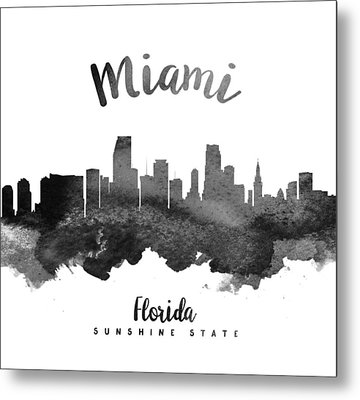 Miami Florida Skyline 18 Metal Print