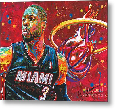 Miami Heat Legend Metal Print by Maria Arango