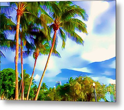 Miami Maurice Gibb Memorial Park Metal Print by Patrice Torrillo