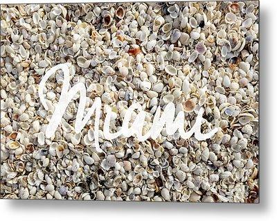 Miami Seashells Metal Print by Edward Fielding