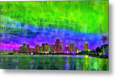 Miami Skyline 121 - Pa Metal Print