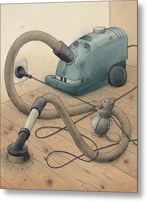 Mice And Monster Metal Print by Kestutis Kasparavicius