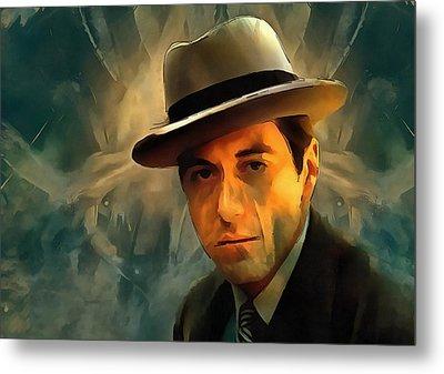 Michael Corleone Metal Print by Dan Sproul