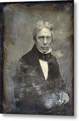 Michael Faraday 1791-1867 English Metal Print by Everett