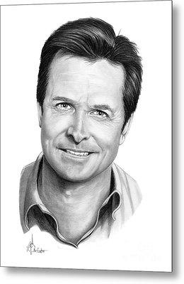 Michael J. Fox Metal Print by Murphy Elliott