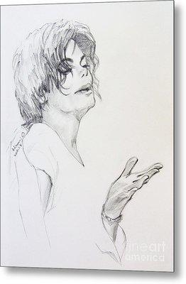 Michael Jackson - In 2001 Ny Metal Print by Hitomi Osanai