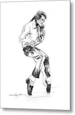 Michael Jackson - King Of Pop Metal Print by David Lloyd Glover