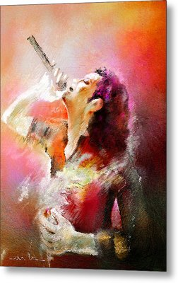 Michael Jackson 05 Metal Print by Miki De Goodaboom