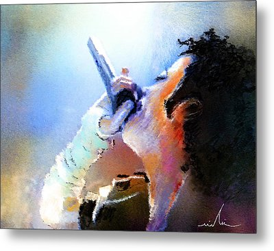 Michael Jackson 06 Metal Print by Miki De Goodaboom