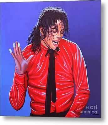 Michael Jackson 2 Metal Print by Paul Meijering