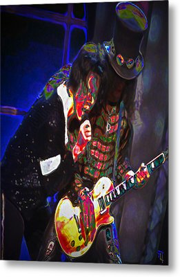 Michael Jackson And Slash Metal Print by  Fli Art