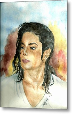 Michael Jackson Black Or White Metal Print by Nicole Wang
