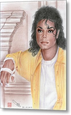 Michael Jackson - Come Together Metal Print by Eliza Lo