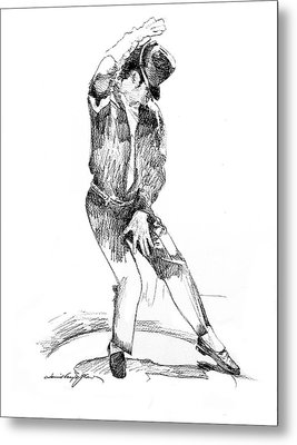Michael Jackson Dancer Metal Print by David Lloyd Glover
