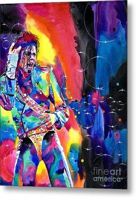 Michael Jackson Flash Metal Print