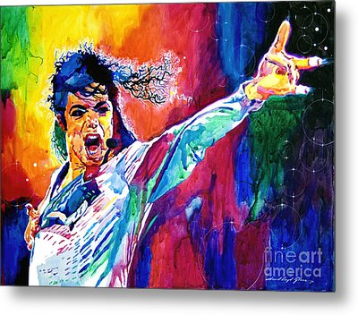 Michael Jackson Force Metal Print by David Lloyd Glover