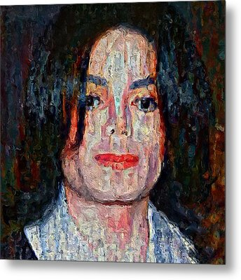 Michael Jackson Forever Metal Print