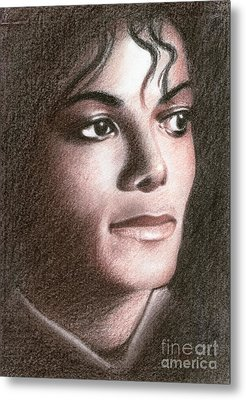 Metal Print featuring the drawing Michael Jackson #fourteen by Eliza Lo