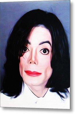 Michael Jackson Mugshot Metal Print