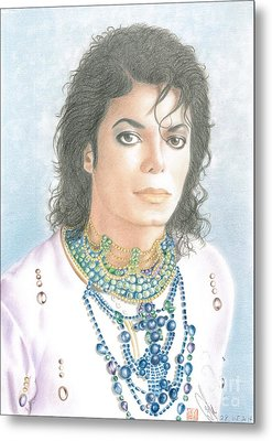 Michael Jackson - Our Beautiful Prince Metal Print by Eliza Lo