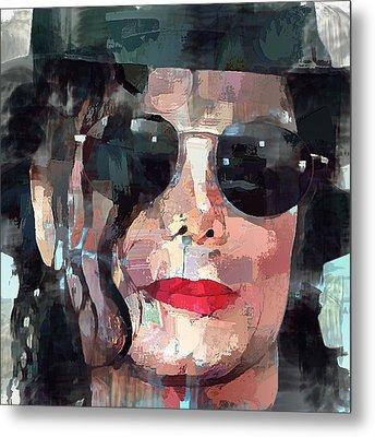 Michael Jackson Portrait 01 Metal Print