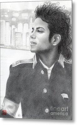 Michael Jackson #twenty-two Metal Print by Eliza Lo
