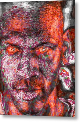 Michael Jordan Digital Painting 2 Metal Print by David Haskett