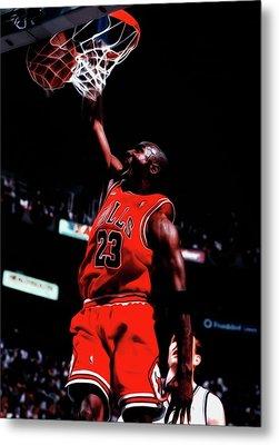 Michael Jordan Game Point Metal Print