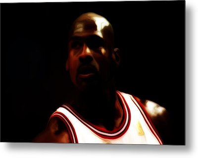 Michael Jordan Game Time Metal Print
