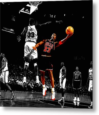 Michael Jordan Left Hand Metal Print by Brian Reaves