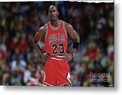 Michael Jordan, Number 23, Chicago Bulls Metal Print