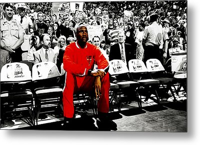 Michael Jordan Ready To Go Metal Print by Brian Reaves