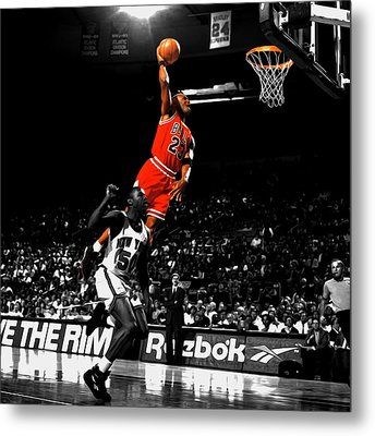 Michael Jordan Suspended In Air Metal Print